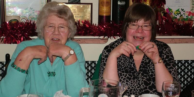 Margaret Blakey and daughter Helen Haines