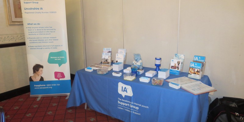 Lincs IA Table Top Display at the Pelican Healthcare Coffee Morning North Shore Hotel Skegness 14-11-13