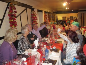 Members and guests at the Christmas meal 8-12-13