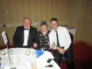 A smart looking Paul Pyrah, Nora Chapman and David Brown at the IA National Conference in Newcastle on 12th April 2014