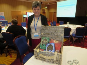 Nora Chapman winning a prize at the IA National Conference in Newcastle on 12th April 2014