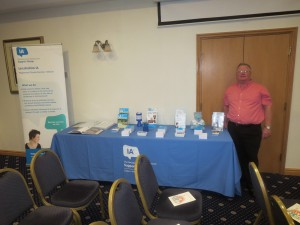 Convatec Coffee Morning and Presentation 17th Sepember 2014 Lincs IA Secretary Paul Pyrah with their table top display