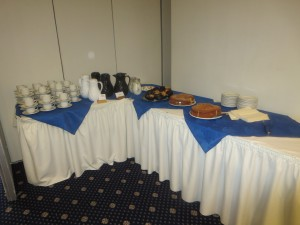 Convatec Coffee Morning and Presentation 17th Sepember 2014 The cake and refreshments table