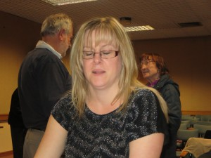 Lincolnshire IA Autumn Meeting Saturday 15th November 2014 with committee member Mel Marr saying I wasn't asleep honest ( she blinked at the wrong second)