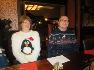 Lincolnshire IA Christmas Meal at The Homestead Lincoln Sunday Lunchtime 7th December 2014 Sandra and Clive Staniland