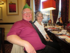 Lincolnshire IA Christmas Meal at The Homestead Lincoln Sunday Lunchtime 7th December 2014 Paul and Gill Pyrah