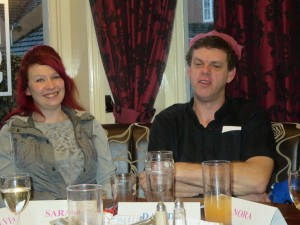 Lincolnshire IA Christmas Meal at The Homestead Lincoln Sunday Lunchtime 7th December 2014 Sarah Richardson and David Brown