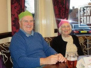 Lincolnshire IA Christmas Meal at The Homestead Lincoln Sunday Lunchtime 7th December 2014 Dave and Sylvia