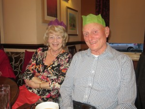 Lincolnshire IA Christmas Meal at The Homestead Lincoln Sunday Lunchtime 7th December 2014 Thelma and Dave Childs