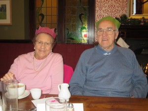 Lincolnshire IA Christmas Meal at The Homestead Lincoln Sunday Lunchtime 7th December 2014 Audrey and Mick Barton
