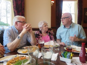 George, Edna and Clive Staniland