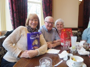 Sandra, Clive and Edna, the Staniland mob
