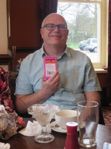 Clive Staniland and his raffle prize