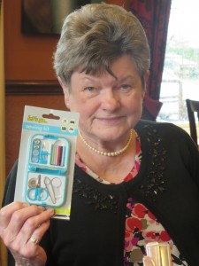 Nora Chapman and her raffle prize
