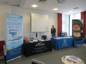 Debbie Thaxter and her Convatec Stand