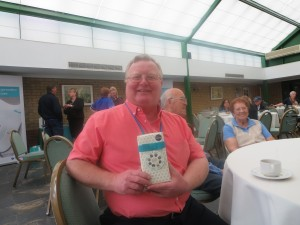 Secretary Paul Pyrah with his raffle prize