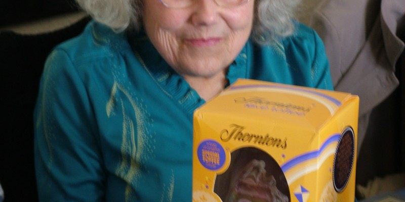Cindy Ward winning the other easter egg