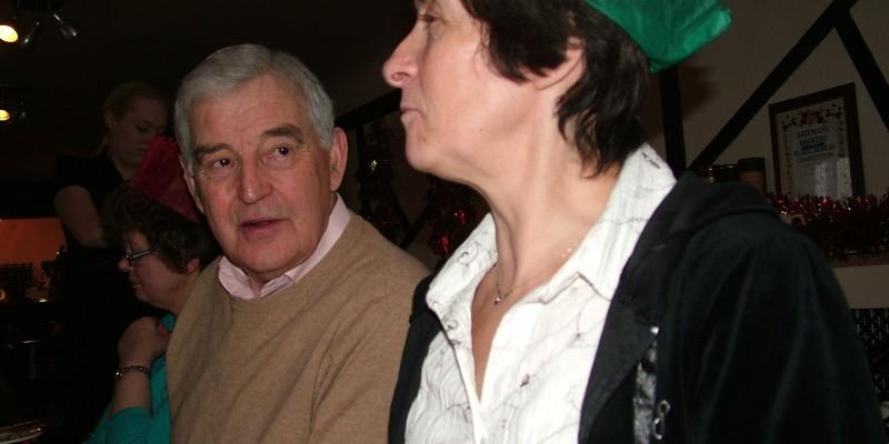 Ian Vickers chatting to Gill Pyrah
